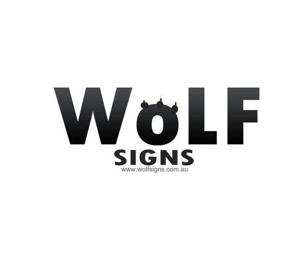 Bài tham dự cuộc thi #                                        290                                      cho                                         Logo Design for Wolf Signs