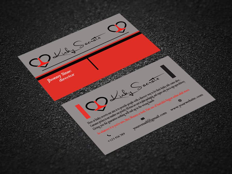 Entry 102 By Abiswassajib For Design A Business Card For Adult Toy
