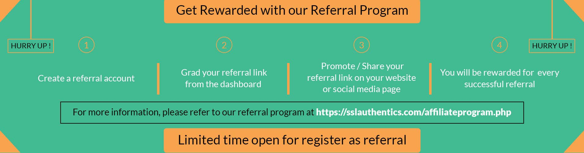 Entry #17 by owlionz786 for Design a referral program banner