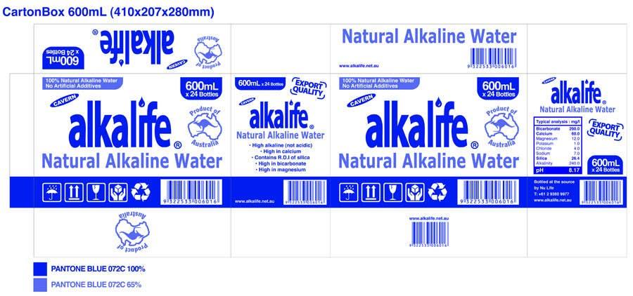 Penyertaan Peraduan #5 untuk Package Design for alkalife Natural Alkaline Water
