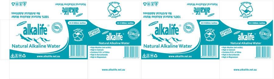 Penyertaan Peraduan #15 untuk Package Design for alkalife Natural Alkaline Water