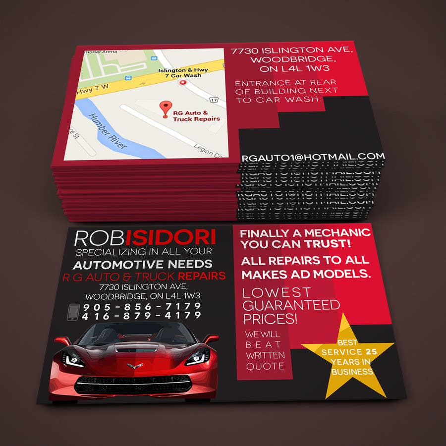 Entry 11 by mladjacode for design some business cards for auto shop contest entry 11 for design some business cards for auto shop colourmoves Image collections