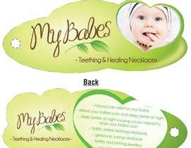 #54 dla Print & Packaging Design for My Babes Teething & Healing Necklaces przez quinncy69