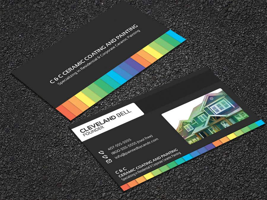 Entry #142 by tishan9 for Painting Company Business Card   Freelancer