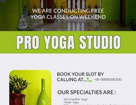 #11 for Design a Flyer _ for yoga institute by Hafizphf