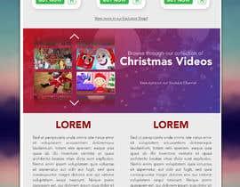 #13 for Website Mockup for Christmas Livestream site af designsdux