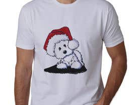 #22 for Christmas Tibetan Terrier portrait T-Shirt by sahac5555