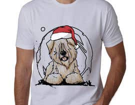 #37 for Christmas Tibetan Terrier portrait T-Shirt by sahac5555
