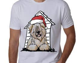 #38 for Christmas Tibetan Terrier portrait T-Shirt by sahac5555