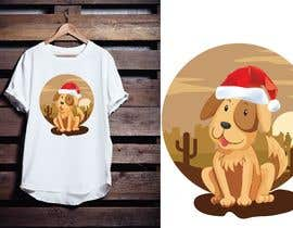 #30 for Christmas Tibetan Terrier portrait T-Shirt by bundhustudio