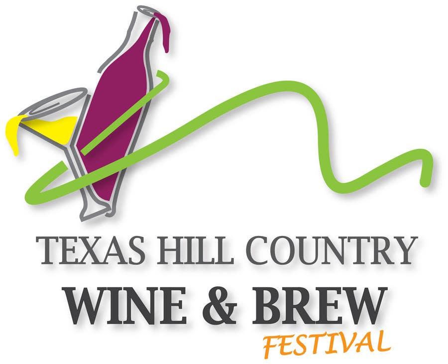 Penyertaan Peraduan #                                        51                                      untuk                                         Logo Design for Texas Hill Country Wine & Brew Fest
