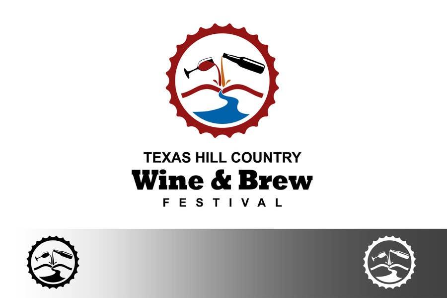 Penyertaan Peraduan #                                        65                                      untuk                                         Logo Design for Texas Hill Country Wine & Brew Fest