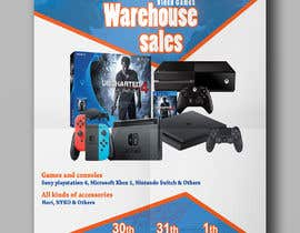 MohammodRakib tarafından Design a Flyer for Video Games Warehouse Sales. -- 2 için no 34
