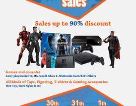 MohammodRakib tarafından Design a Flyer for Video Games Warehouse Sales. -- 2 için no 59