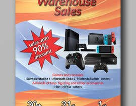 mousumiaktercit tarafından Design a Flyer for Video Games Warehouse Sales. -- 2 için no 64