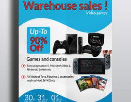 absharif8044 tarafından Design a Flyer for Video Games Warehouse Sales. -- 2 için no 79
