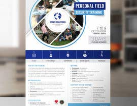 #39 cho Flyer for our Personal Field Security Training bởi arslanizaya