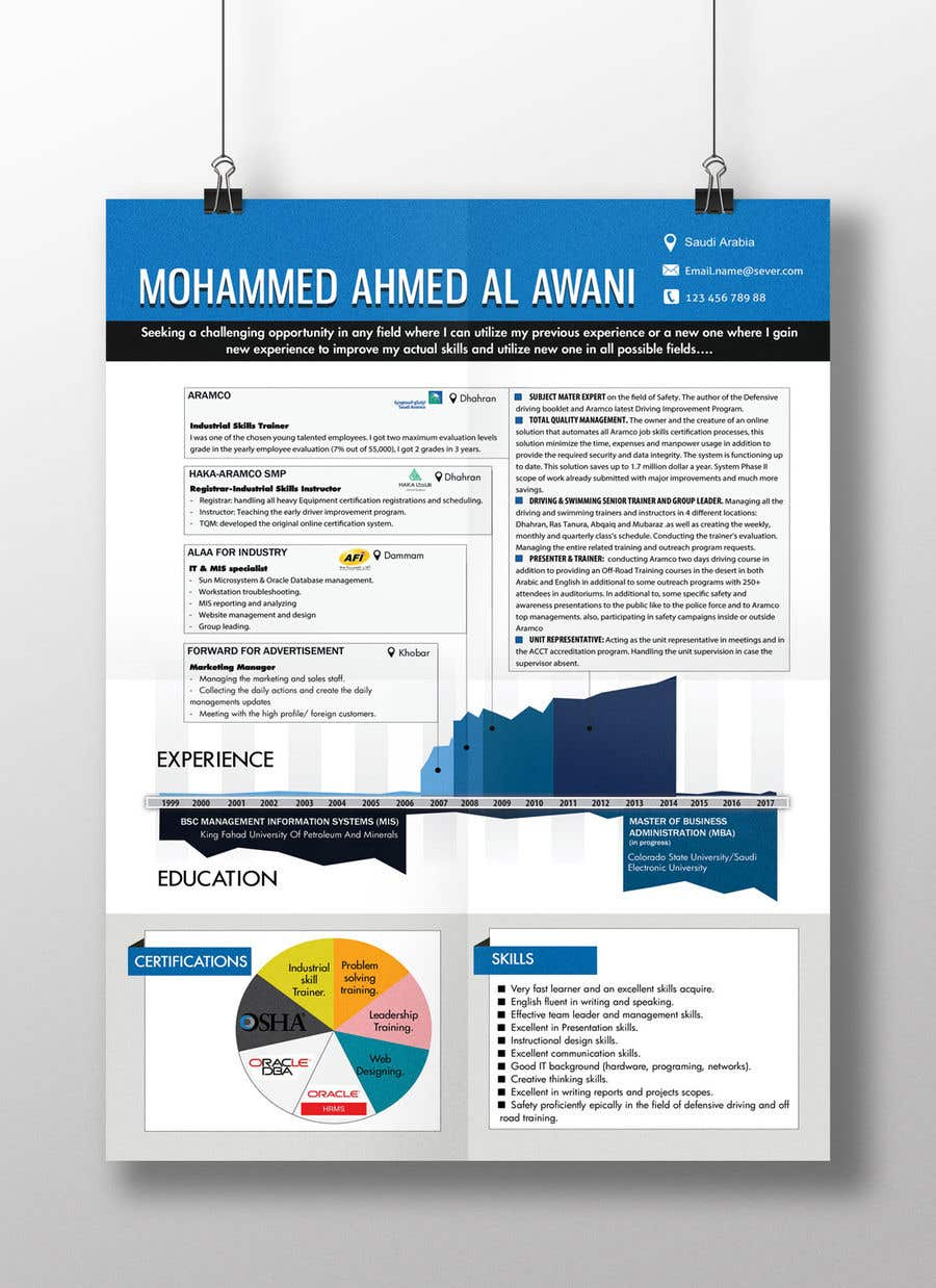 entry 25 by resumedesigner for infographic cv resume freelancer