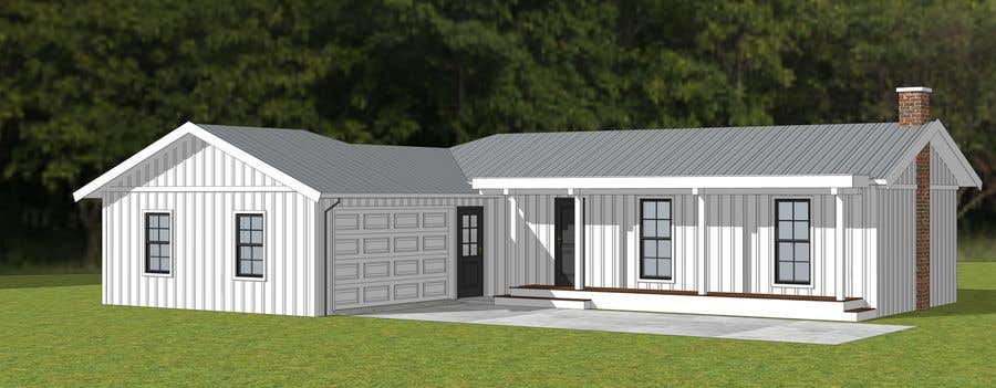 Entry #16 by AICStudio for 2D or 3D Drafting/Design Ideas for front on wooden ranch gate designs, ranch entry designs, modern raised ranch house designs,