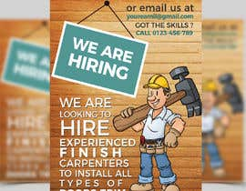 #12 per I have a Moulding business and I'm looking to hire experienced finish carpenters to install all types of doors trim. Please provide me with a advertising poster both in Spanish and English.  I am looking for a poster to advertise the job openings thanks da Sharmilauthoi