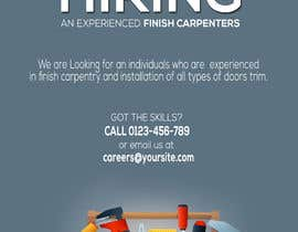 #2 per I have a Moulding business and I'm looking to hire experienced finish carpenters to install all types of doors trim. Please provide me with a advertising poster both in Spanish and English.  I am looking for a poster to advertise the job openings thanks da Louiegi