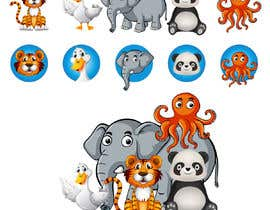 #12 for Matching set of cartoon animals by rnog