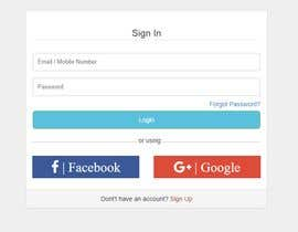 #8 for Login page web design in Angular html5 by amoldevadhe3