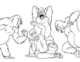 "#1 untuk 2 Drawings of a fight between a ""regular guy"" and three ""800 pound gorillas"" oleh paulmage2"