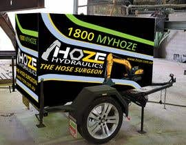 #12 untuk Trailer wrap design for Hoze Hydraulics - Design project oleh Sumonrm