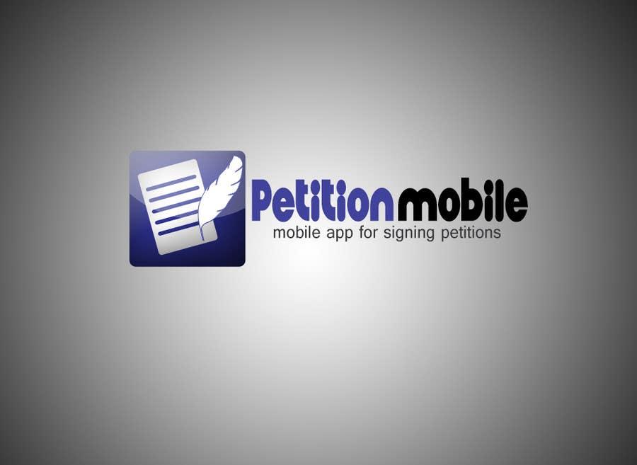 Kilpailutyö #                                        17                                      kilpailussa                                         Logo Design for PetitionMobile