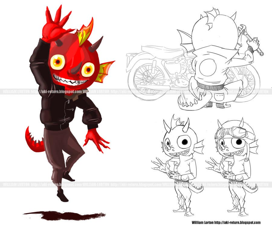 Konkurrenceindlæg #                                        34                                      for                                         Graphic Illustration Design for 2D 3D mascot character and long term contract for future