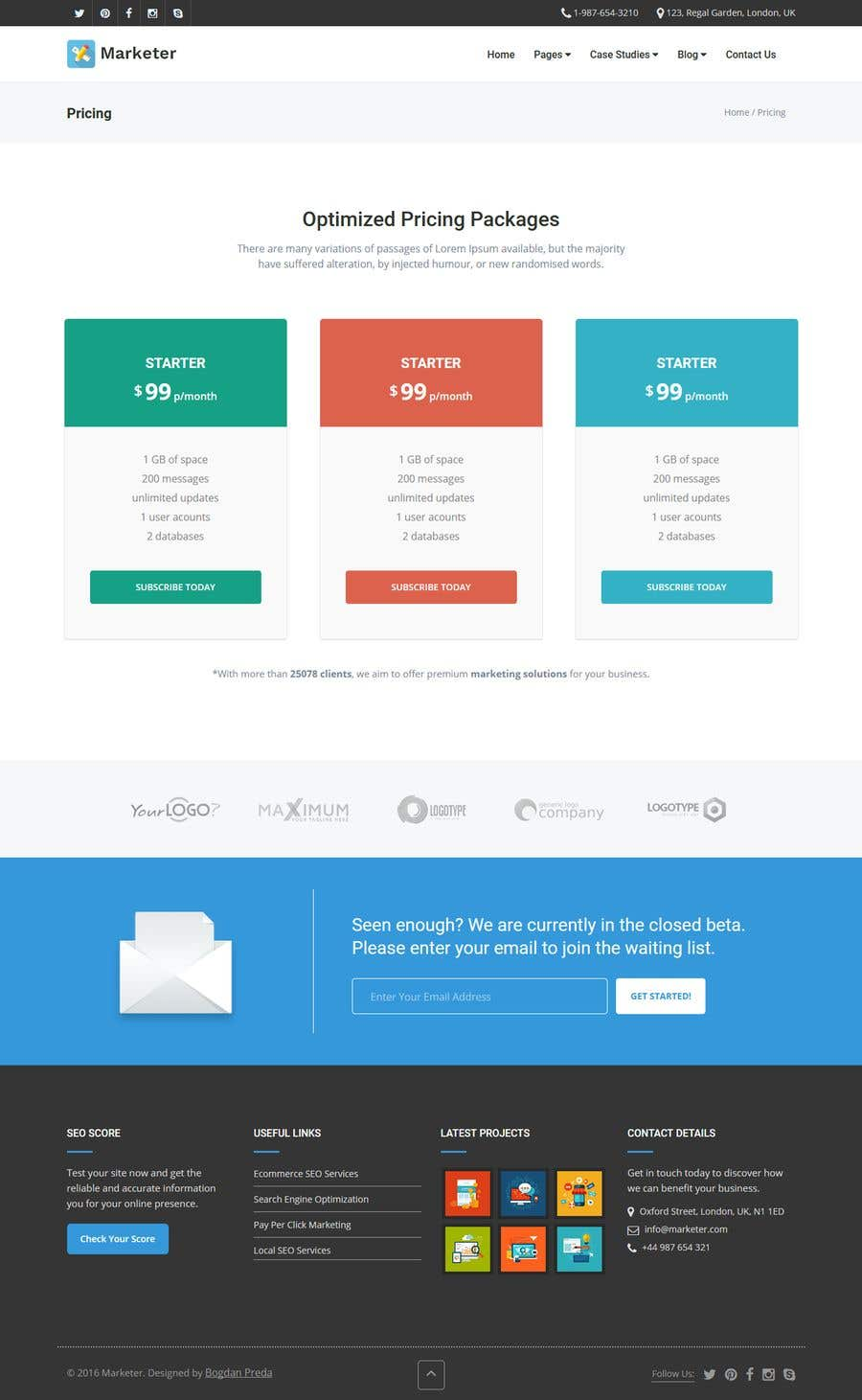 Entry By Sanket For Build A Professional Responsive Website - Photo contest website template