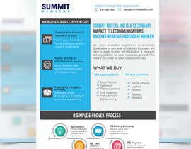 #74 for Design a one page sales brochure for Summit Digital by SLP2008