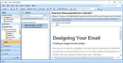 Image of                             HTML mail for Outlook