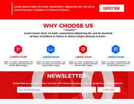 #8 for Graphic Design: Mockups Refreshing Company Website by CodePixelsSmart