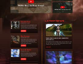 #6 for Design a Fantasy Game Website (PSD) - Homepage Only by saidesigner87