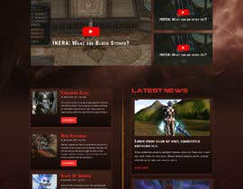 #13 for Design a Fantasy Game Website (PSD) - Homepage Only by saidesigner87