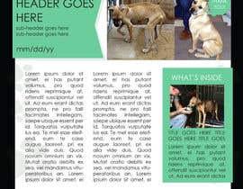 #9 untuk Newsletter Template for Animal Rescue developed in Illustrator oleh ryucalderon94