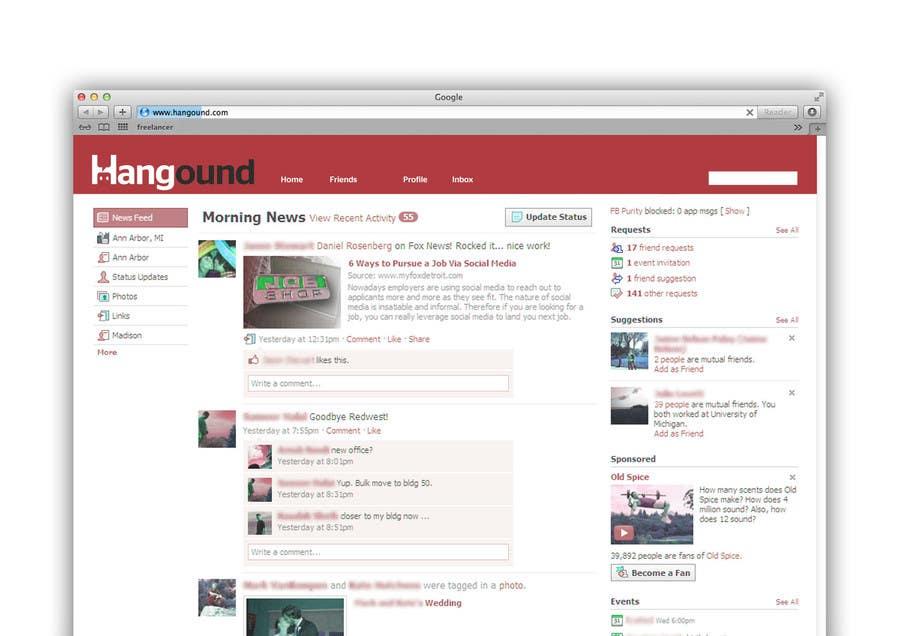 Logo design for Hangound (hangound.com), a new web social network based in NY. için 34 numaralı Yarışma Girdisi
