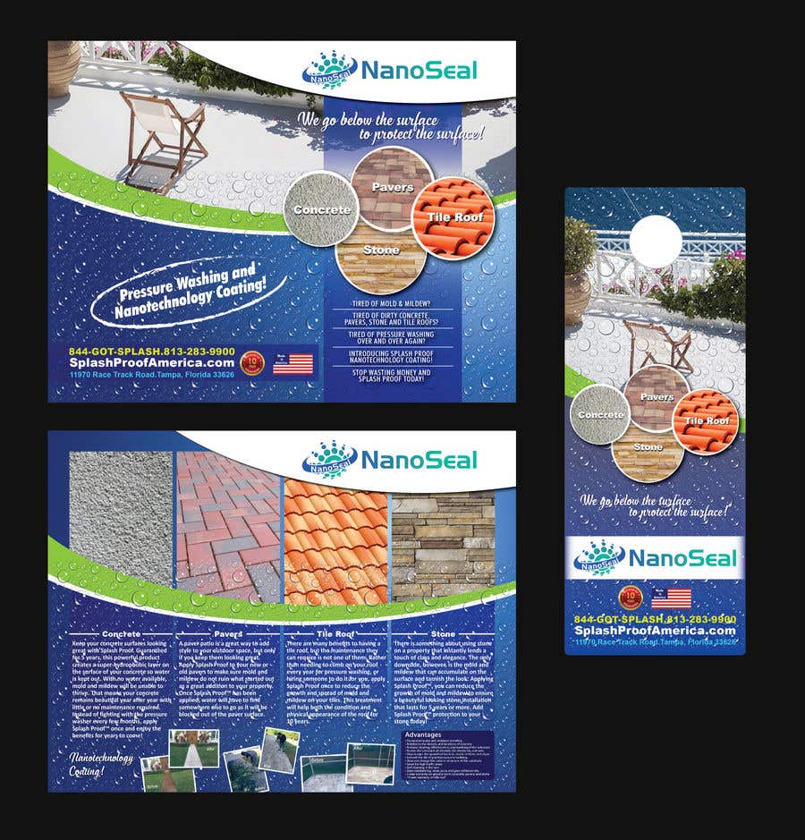 Contest Entry #49 for NanoSeal Brochure & Doorhanger