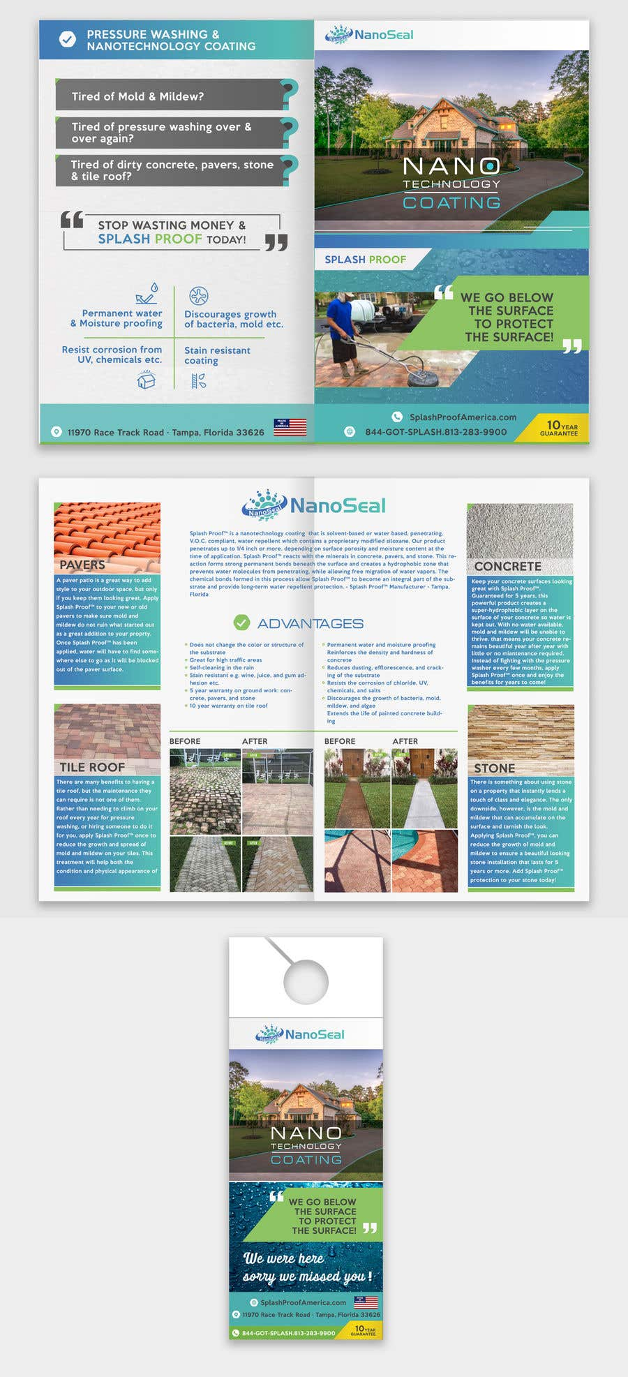 Contest Entry #55 for NanoSeal Brochure & Doorhanger