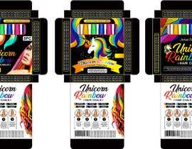 #15 for Rainbow Unicorn Hair Chalk Package Design af adview1