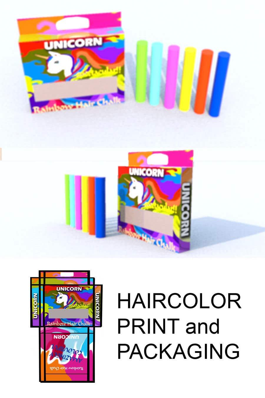 Konkurrenceindlæg #11 for Rainbow Unicorn Hair Chalk Package Design