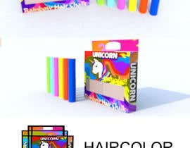#11 for Rainbow Unicorn Hair Chalk Package Design af sonnybautista143