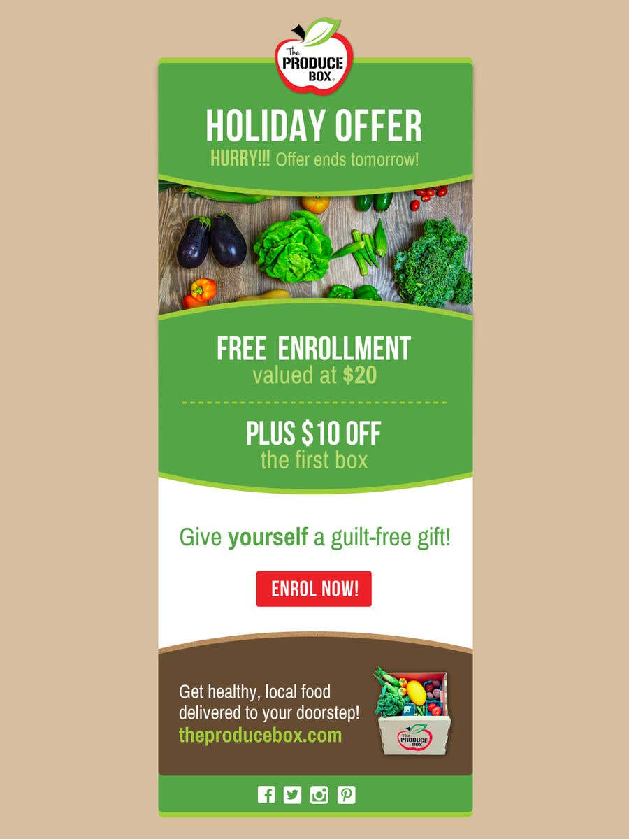 Proposition n°43 du concours Holiday Email Campaign