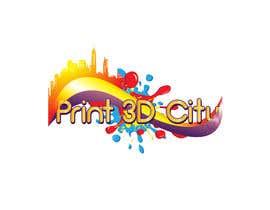 darkribbon tarafından Design a 3D Looking Logo - Print3D City için no 23
