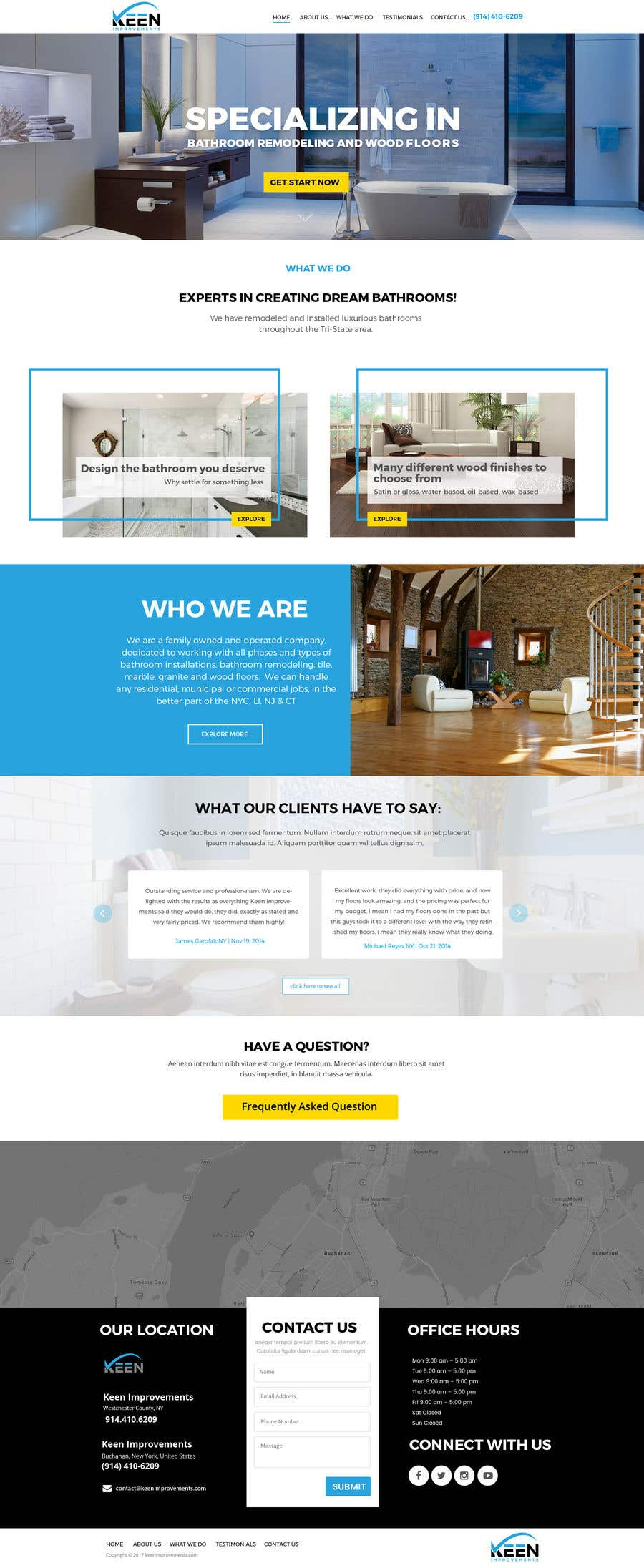 Contest Entry #8 for Create Website for Keen Improvements