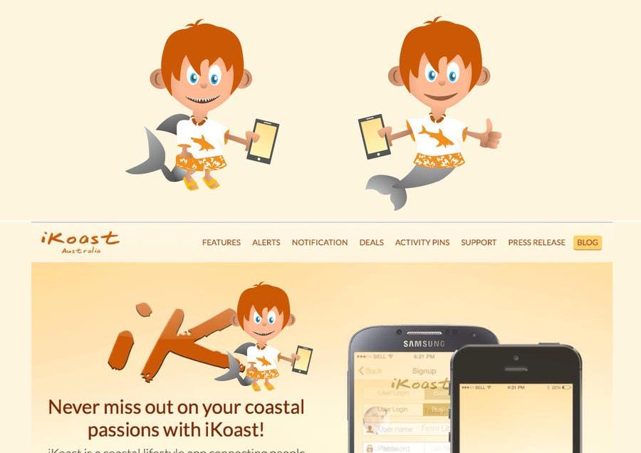 Inscrição nº                                         9                                      do Concurso para                                         iKoast App Mascot / LOGO