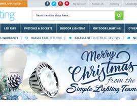 #18 untuk Christmas Day Themed Banner set for our website oleh satishandsurabhi