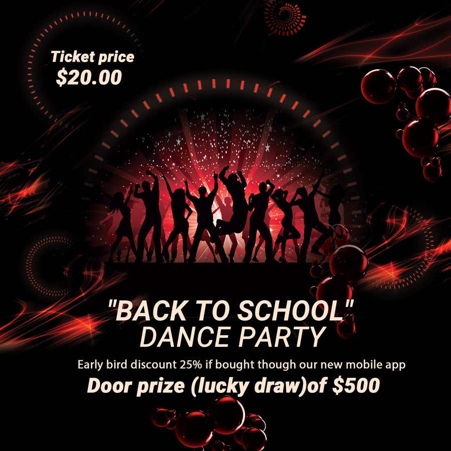 entry 29 by zainebgfx for flyer design for a dance party freelancer